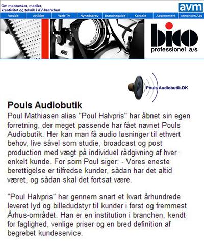 Pouls Audiobutik, Dansk Audio Teknik Professionel
